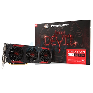 4GB GDDR5 AMD RX 570 PowerColor Red DEVIL
