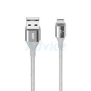 Cable USB To Lightning (1.2M,Dura Tek,F8J207bt04) 'BELKIN' Silver