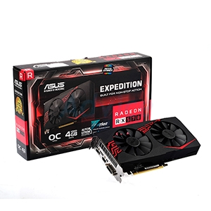4GB GDDR5 AMD RX570 ASUS EXPEDITION OC