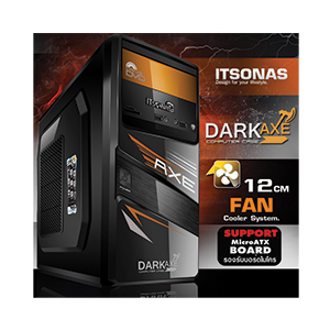 mATX Case ITSONAS Dakeaxe (Black/Orange)