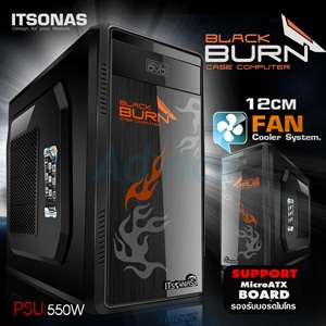 mATX Case ITSONAS Blackburn (Black)