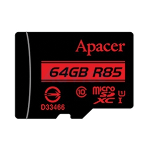 Micro SD 64GB Class 10 Apacer R85 (85MB/s.)