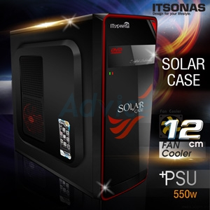 ATX Case ITSONAS Solar (Black-Red)