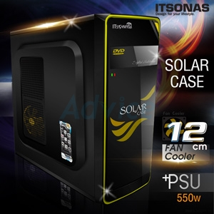 ATX Case ITSONAS Solar (Black-Yellow)