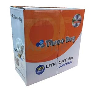 CAT5e UTP Cable (100m./Box) THREE BOY