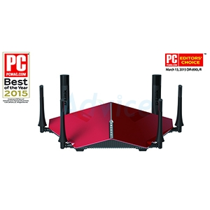 Router D-LINK (DIR-890L) Wireless AC3200 Dual Band Gigabit (Red)