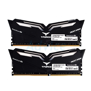 RAM DDR4(3000) 16GB (8GBX2) TEAM Night Hawk Red