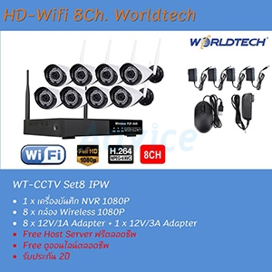 Set. 8CH. Smart IP Camera Worldtech#1080P