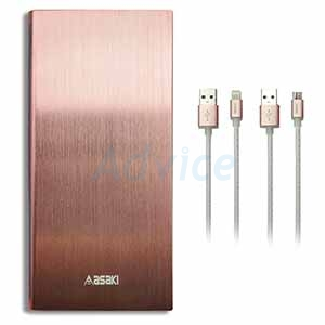 POWER BANK 10000 mAh 'ASAKI' (A-B439) Rose Gold