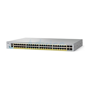 Gigabit Switching Hub CISCO (WS-C2960L-48PS-AP) 48 Port + 4 Port SFP PoE Power 370W (17