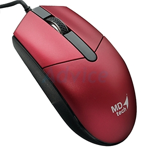 USB Optical Mouse MD-TECH (MD-17) Black/Red