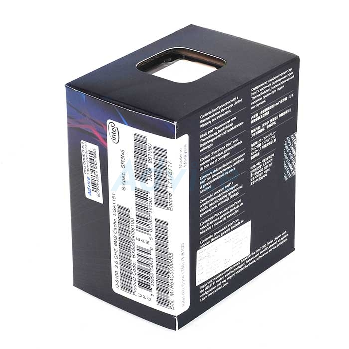 CPU Intel Core i3 - 8100 (Box Ingram/Synnex)