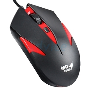 USB Optical Mouse MD-TECH  (MD-55)  Black/Red