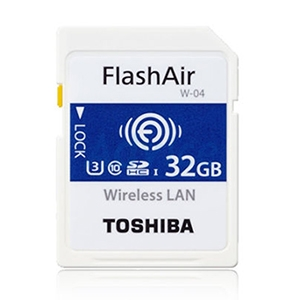 FlashAir Wireless SD Card 32GB Toshiba  W04 (U3 CL10)