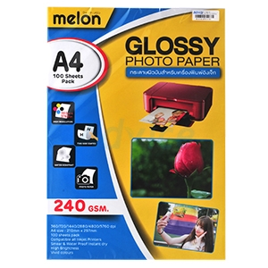 MELON Photo Inkjet Glossy A4 240G. (100/Pack)
