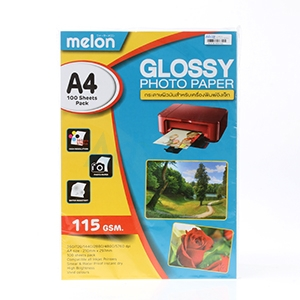 Photo Inkjet Glossy A4 115G. MELON  (100/Pack)