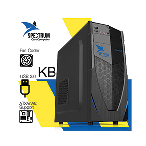 ATX Case (NP) CUBIC Spectrum (Black/Blue)