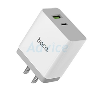 Adapter 1USB+1Port Type-C Q3.0 (2.4A C24A)