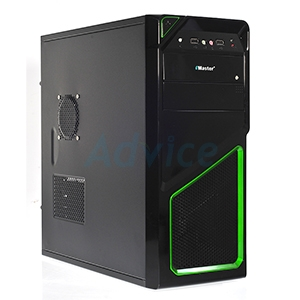 ATX Case (NP) eMaster E-5403-GN (Black/Green)
