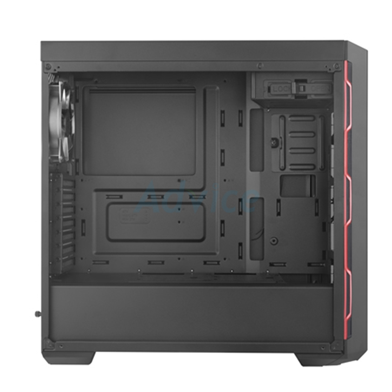 ATX Case (NP) COOLERMASTER MB600L (Black/Red)