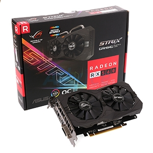 4GB GDDR5 AMD RX560 ASUS STRIX Gaming EVO