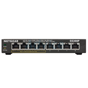 Gigabit Switching Hub NETGEAR (GS308P) 8 Port Gigabit POE