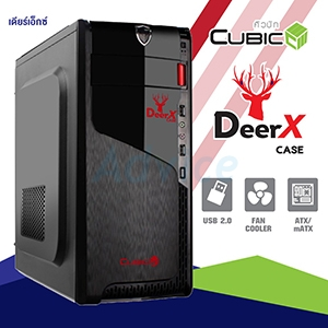 ATX Case (NP) CUBIC DeerX (Black/Red)