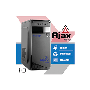 ATX Case (NP) CUBIC Ajax (Black/Blue)