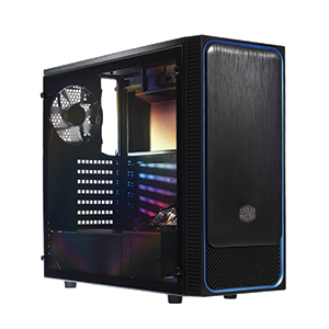 ATX Case (NP) COOLERMASTER E500L Blue-Led (Black)
