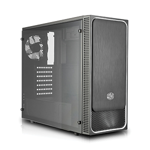 ATX Case (NP) COOLERMASTER E500L Silver-Led (Black)