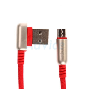 Cable USB To Micro USB (1M,S22) 'ELOOP' Red