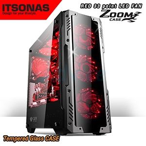 ATX Case (NP) ITSONAS Zoom (Black/Red)