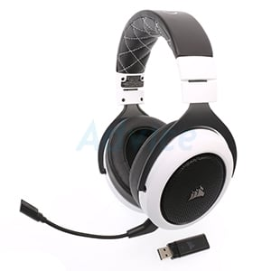 HEADSET (7.1) CORSAIR HS70 WIRELESS (WHITE)