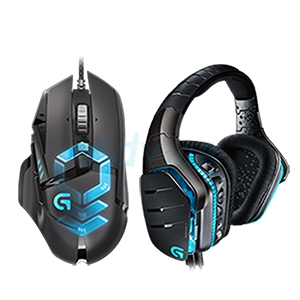 SET COMBO LOGITECH MOUSE G502RGB + HEADSET G633 GAMING