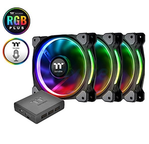 FAN CASE '12cm' ThermaltakeRiing 12 Plus RGB (Pack 3)