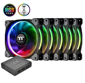 FAN CASE Thermaltake 120mm Riing 12 Plus RGB (Pack 5)