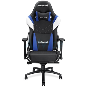 CHAIR Anda-Seat Assassin King (Black/White/Blue) [AD4XL-03-BWS-PV]