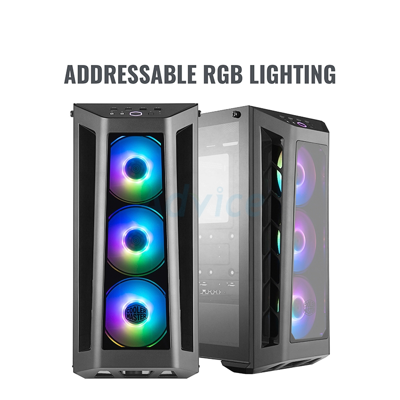 ATX Case (NP) COOLERMASTER MB530P RGB (Black)