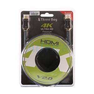 Cable HDMI 3D 4K (V.2.0) M/M (5M)THREEBOY