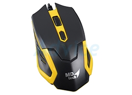 USB Optical Mouse MD-TECH (MD-36) Black/Yellow
