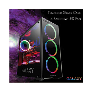 ATX Case (NP) ITSONAS Galaxy Rainbow (Black)