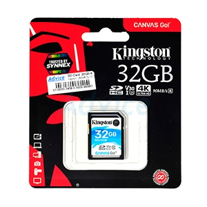 SD Card  32GB Kingston  (SDG Class10 90MB./s)