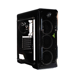 ATX Case (NP) GVIEW I5-40 White Led (Black)