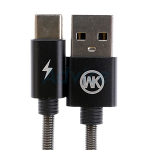 Cable USB To Type-C (1M,KINGKONG) 'WK' Black