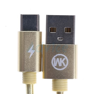 Cable USB To Type-C (1M,KINGKONG) 'WK' Gold