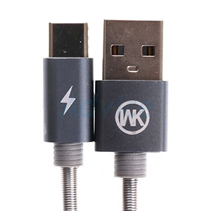 Cable USB To Type-C (1M,KINGKONG) 'WK' Gray
