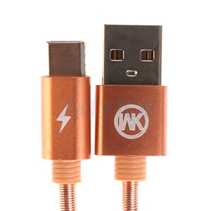 Cable USB To Type-C (1M,KINGKONG) 'WK' Rose Gold