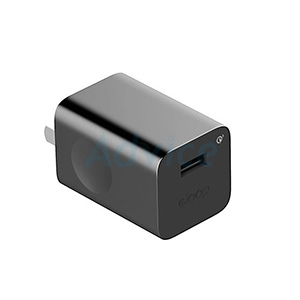 Adapter 1USB (2.4A,EQ24) 'Eloop' Black