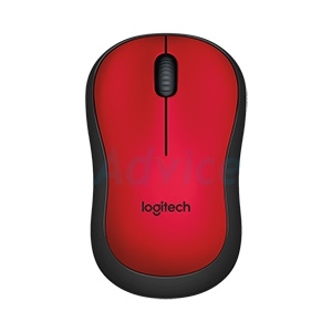 Wireless Optical Mouse LOGITECH (M221Silent) Red