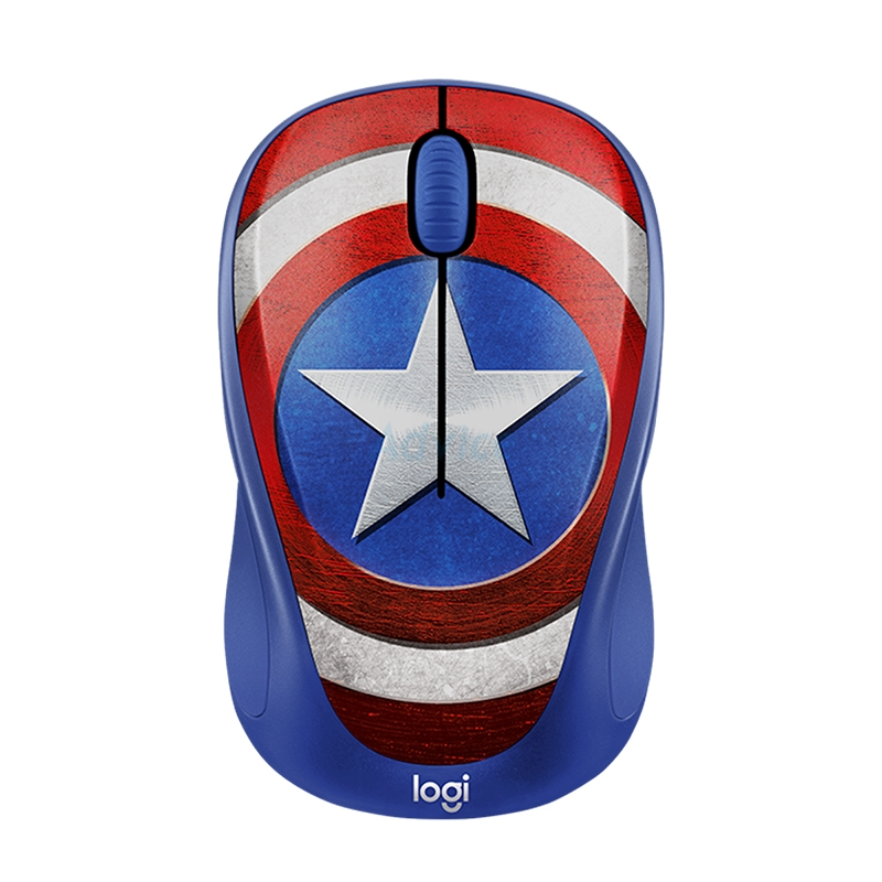 Wireless Optical Mouse LOGITECH (M238) MARVEL COLLECTION CAPTAIN AMERICA